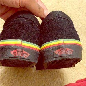 Vans black suede Bob Marley edition sneakers